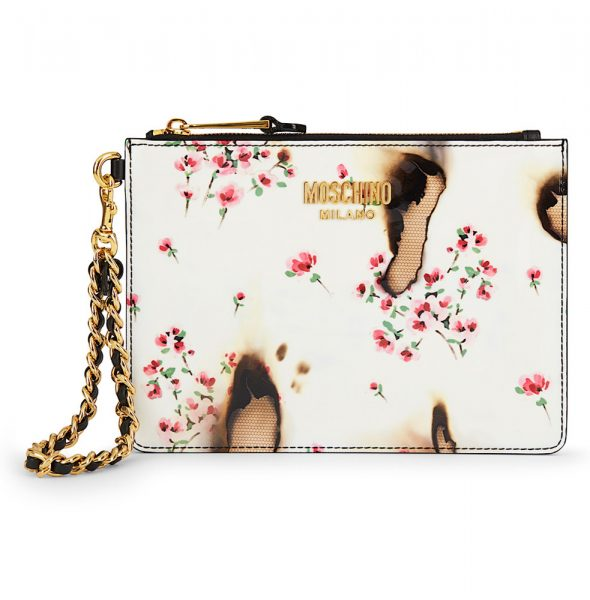 moschino-white-burnt-floral-printed-patent-leather-clutch