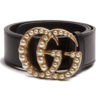 Gucci Faux-Pearl Embellished Belt