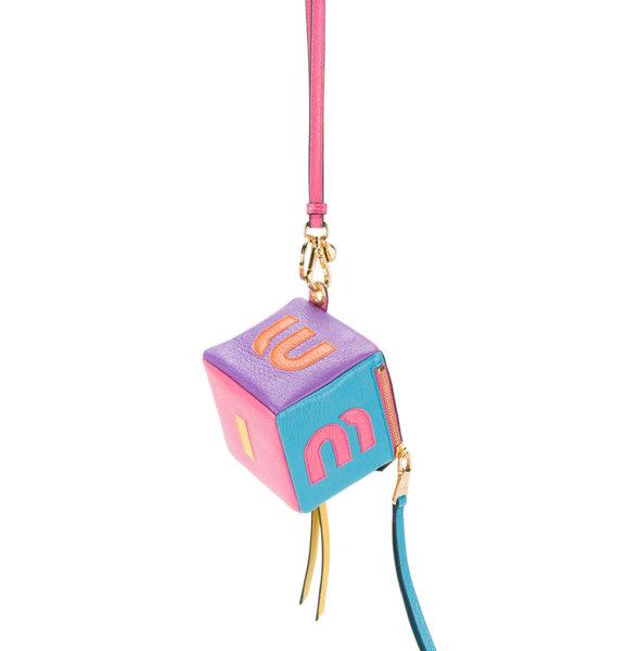 Miu Miu Logo Cube Keyring back