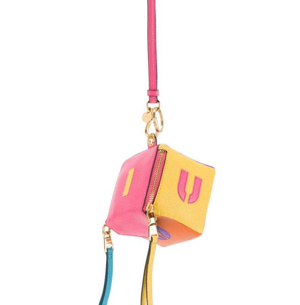 Miu Miu Logo Cube Keyring front